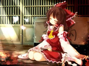 Rating: Safe Score: 29 Tags: gen-getsu hakurei_reimu miko touhou wallpaper User: 23yAyuMe