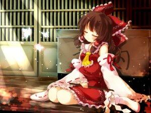 Rating: Safe Score: 30 Tags: gen-getsu hakurei_reimu miko touhou wallpaper User: 23yAyuMe