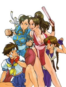 Rating: Questionable Score: 39 Tags: bandaid capcom capcom_vs_snk chinadress chun_li cleavage crossover fatal_fury japanese_clothes kasugano_sakura king_of_fighters ninja nishimura_kinu no_bra pantyhose rival_schools ryuuko_no_ken sakazaki_yuri seifuku shiranui_mai snk street_fighter street_fighter_zero street_fighter_zero_2 User: majoria