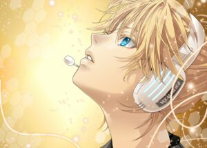 Rating: Safe Score: 11 Tags: hakuseki headphones kagamine_len male vocaloid User: charunetra
