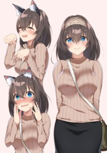 Rating: Safe Score: 33 Tags: animal_ears nekomimi sagisawa_fumika spicy_moo sweater the_idolm@ster the_idolm@ster_cinderella_girls User: Mr_GT