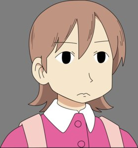 Rating: Safe Score: 20 Tags: aioi_yuko nichijou transparent_png vector_trace User: zRayk