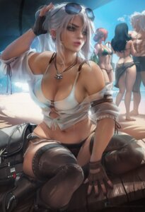 Rating: Safe Score: 80 Tags: bikini ciri cleavage geralt_of_rivia megane open_shirt sakimichan see_through swimsuits the_witcher_3 thighhighs triss_merigold yennefer_of_vengerberg User: Moyyan