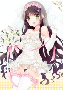 Rating: Questionable Score: 139 Tags: cameltoe cleavage dress kono_naka_ni_hitori_imouto_ga_iru! meli*melo mottsun pantsu stockings thighhighs tsuruma_konoe wedding_dress User: yong
