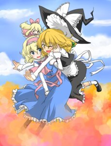 Rating: Safe Score: 5 Tags: akeno alice_margatroid kirisame_marisa shanghai touhou User: Radioactive