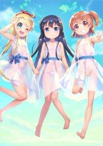 Rating: Questionable Score: 42 Tags: bikini cameltoe dress himesaka_noa hoshino_hinata loli see_through shirosaki_hana swimsuits tagme watashi_ni_tenshi_ga_maiorita! User: saemonnokami