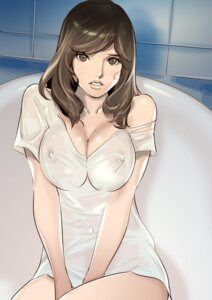 Rating: Questionable Score: 35 Tags: cleavage dytm erect_nipples see_through tagme wet wet_clothes User: saemonnokami