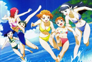 Rating: Safe Score: 10 Tags: bikini crease hisayuki_hirokazu juliet_nao_zhang mai_otome minagi_mikoto nina_wang rena_sayers swimsuits tokiha_mai yumemiya_arika User: Radioactive