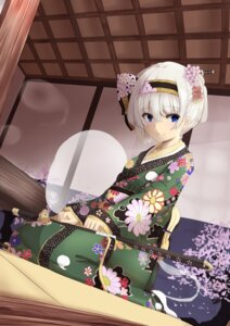 Rating: Safe Score: 35 Tags: kimono konpaku_youmu senbon_tsuki sword touhou User: Mr_GT