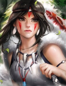 Rating: Safe Score: 33 Tags: mononoke_hime sakimichan san weapon User: sylver650