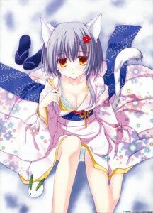 Rating: Questionable Score: 62 Tags: animal_ears bra cleavage nanao_naru nekomimi pantsu tail toranoana User: WtfCakes