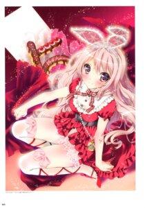 Rating: Safe Score: 54 Tags: animal_ears bunny_ears dress kamiya_maneki thighhighs User: crim