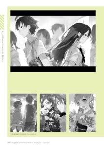 Rating: Safe Score: 4 Tags: monochrome ponkan_8 seifuku yahari_ore_no_seishun_lovecome_wa_machigatteiru. yukata User: fireattack