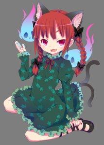 Rating: Safe Score: 12 Tags: animal_ears kaenbyou_rin kishiri_toworu touhou transparent_png User: charunetra