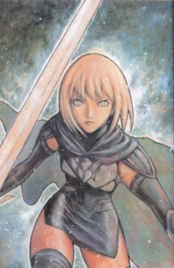 Rating: Safe Score: 7 Tags: armor binding_discoloration claymore sword thighhighs yagi_norihiro User: Radioactive