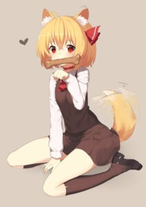 Rating: Safe Score: 32 Tags: animal_ears rumia seifuku sh tail touhou User: Mr_GT
