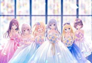 Rating: Safe Score: 43 Tags: dress ekouji_ruri emori_el emori_miku emori_miku_project emu_alice ezuki_luna kon_hoshiro mitsuya_nier no_bra see_through wedding_dress User: Arsy