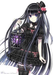 Rating: Safe Score: 60 Tags: dress gothic_lolita kazuharu_kina lolita_fashion momoiro_taisen_pairon nishinosono_muimi thighhighs User: 椎名深夏