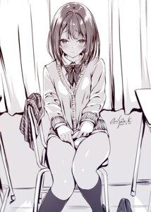 Rating: Questionable Score: 31 Tags: kobayashi_chisato monochrome pantsu seifuku sweater User: zyll