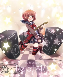 Rating: Safe Score: 16 Tags: ech guitar megane seifuku thighhighs User: Nekotsúh