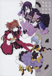 Rating: Questionable Score: 34 Tags: ayanami_rei bleed_through eyepatch heels lolita_fashion makinami_mari_illustrious megane neon_genesis_evangelion souryuu_asuka_langley thighhighs yoneyama_mai User: Radioactive