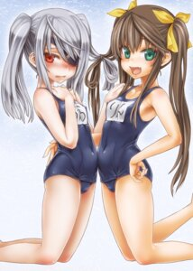 Rating: Questionable Score: 69 Tags: asanagi cameltoe erect_nipples eyepatch huang_lingyin infinite_stratos laura_bodewig loli school_swimsuit swimsuits User: Mr_GT