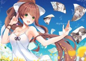 Rating: Safe Score: 45 Tags: cleavage doki_doki_literature_club! dress kimono monika_(doki_doki_literature_club!) seifuku summer_dress xhunzei User: charunetra