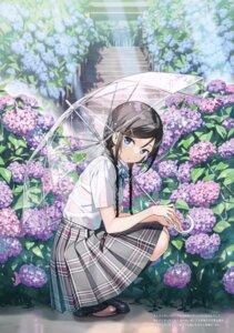 Rating: Safe Score: 65 Tags: bra kantoku miyaguchi_hiromi_(kantoku) see_through seifuku umbrella wet_clothes User: kiyoe