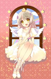 Rating: Safe Score: 28 Tags: dress flyable_heart ito_noizi wings yukishiro_suzuno User: fireattack