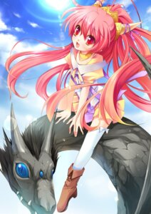 Rating: Safe Score: 19 Tags: ayakaze_ryuushou horns thighhighs User: fairyren