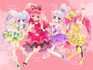 Rating: Safe Score: 9 Tags: aino_megumi dress happiness_charge_precure! pantyhose pretty_cure shirayuki_hime_(precure) thighhighs uduki-shi User: Radioactive