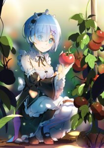 "Rating: Safe Score: 81 Tags: cleavage lu"" maid re_zero_kara_hajimeru_isekai_seikatsu rem_(re_zero) thighhighs User: Mr_GT"