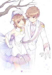 Rating: Safe Score: 12 Tags: business_suit card_captor_sakura cleavage dress kangyui kinomoto_sakura li_syaoran User: charunetra