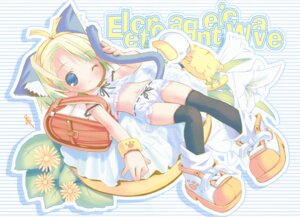Rating: Safe Score: 14 Tags: ah-kun animal_ears fixed moetan nekomimi pantsu pop tail thighhighs User: petopeto
