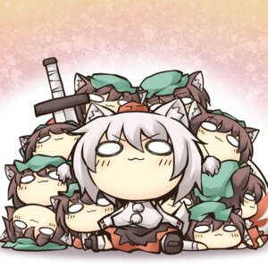 Rating: Safe Score: 14 Tags: animal_ears chen chibi inubashiri_momiji nekoguruma nekomimi touhou User: Radioactive