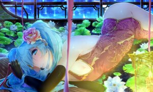 Rating: Questionable Score: 11 Tags: chinadress cleavage hatsune_miku nopan vocaloid xuanlin_jingshuang User: Mr_GT