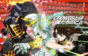 Rating: Safe Score: 13 Tags: gatchaman_crowds hibiki_joe ichinose_hajime mecha seifuku tachibana_sugane takahashi_yuuichi User: drop