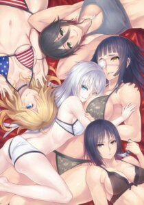 Rating: Questionable Score: 78 Tags: 2d bikini chequita cleavage eyepatch jormungand karen_low koko_hekmatyar schokolade swimsuits valmet weapon User: Radioactive