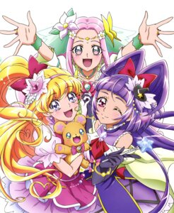 Rating: Safe Score: 14 Tags: asahina_mirai dress haa-chan_(precure) izayoi_riko mahou_girls_precure! mofurun_(precure) pretty_cure User: drop