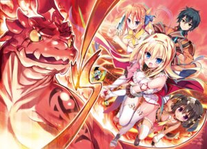 Rating: Safe Score: 12 Tags: animal_ears cleavage monster sword tail thighhighs youta zettai_ni_hatarakitakunai_dungeon_master_ga_damin_wo_musaboru_made User: kiyoe