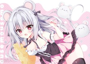 Rating: Questionable Score: 26 Tags: animal_ears cleavage hellrun tail thighhighs User: kiyoe