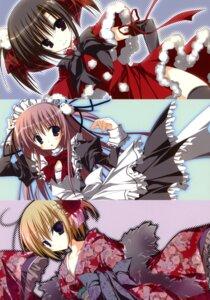 Rating: Safe Score: 20 Tags: christmas ebiten hiromatsu_rikei inugami_kira kanamori_hakata kimono maid thighhighs todayama_kyouko User: crim