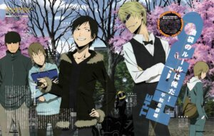 Rating: Safe Score: 9 Tags: bleed_through celty_sturluson crease durarara!! heiwajima_shizuo kadota_kyouhei kida_masaomi male orihara_izaya yabuno_koji yumasaki_walker User: alimilena