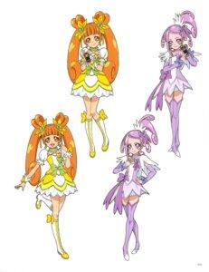 Rating: Questionable Score: 5 Tags: dokidoki!_precure dress heels kenzaki_makoto pretty_cure takahashi_akira thighhighs yotsuba_alice User: drop
