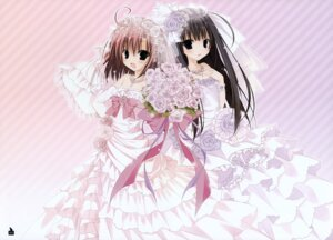 Rating: Safe Score: 36 Tags: dress inugami_kira saionji_tsukushi sakurano_kurimu seitokai_no_ichizon wedding_dress User: Hatsukoi