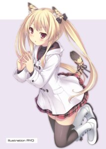 Rating: Safe Score: 94 Tags: animal_ears nekomimi ryo_(botsugo) tail thighhighs toranoana User: fireattack