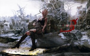 Rating: Safe Score: 34 Tags: aya_brea blood cg cleavage gun landscape parasite_eve square_enix the_3rd_birthday torn_clothes wallpaper User: Devard