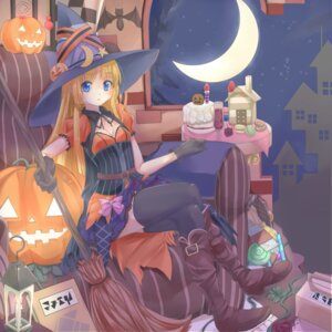 Rating: Safe Score: 34 Tags: cleavage dress halloween heels thighhighs waichi witch User: Mr_GT