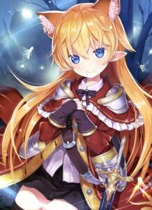 Rating: Safe Score: 80 Tags: animal_ears armor capricio pointy_ears sword thighhighs User: drop