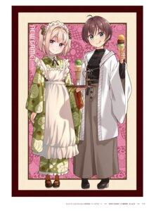Rating: Questionable Score: 8 Tags: iijima_yun new_game! shinoda_hajime tokunou_shoutarou User: kiyoe